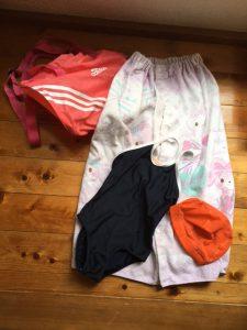 水泳,持ち物,女子,プール,ラップタオル,日本語指導